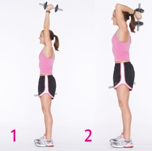 Tricep Extension - Details on how to properly do tricep extensions: http://www.fitnesswellnessblog.com/fitness/exercises/proper-method-of-the-triceps-extension.html